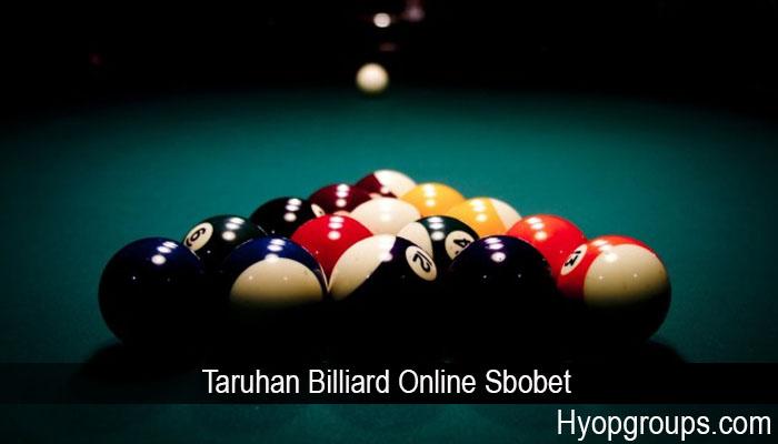 Taruhan Billiard Online Sbobet